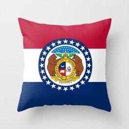 Missouri State Flag Throw Pillow
