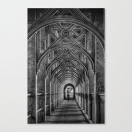 High Level Bridge in Newcastle upon Tyne black and white Canvas Print