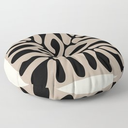 Henri matisse cut out blacka nd white flowers classic abstract, contemporary art Floor Pillow