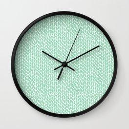 Hand Knit Mint Wall Clock