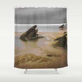Fistral Beach, Newquay, Cornwall, England United Kingdom Shower Curtain