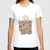 child T-shirts featuring sleeping child by Cecilia Sánchez