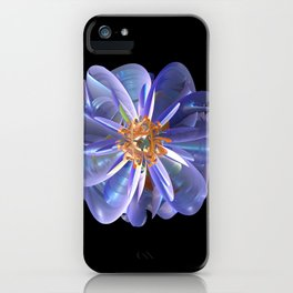 Purple & Gold Flower iPhone Case