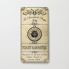 Steampunk Apothecary Shoppe - Barometer Metal Print