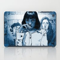 mia wallace iPad Cases featuring Pulp Fiction - Mia Wallace by Rob O'Connor