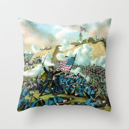The Capture of Fort Fisher -- Civil War Throw Pillow