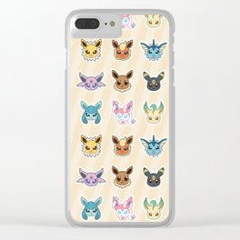 Colorful Pockt Friends Clear iPhone Case