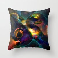 universe Throw Pillows featuring Universe by Robin Curtiss