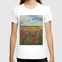 poppies T-shirts featuring Poppies by Michael Creese