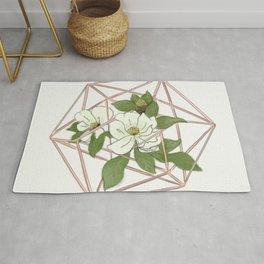 Geometric Magnolia Arrangement Rug