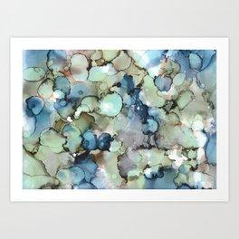 Alcohol Ink Sea Glass Art Print