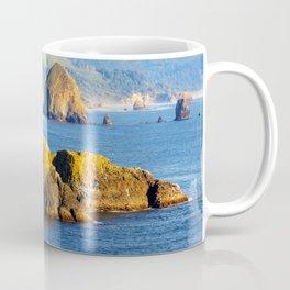 Image USA Cannon Beach Ecola State Park Crag Nature Mountains Coast Rock Cliff mountain Coffee Mug