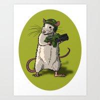 Rat Marine Art Print