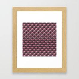 Tribal Purple Feather Boho Design Framed Art Print