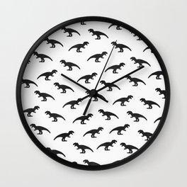 T-Rex Pattern Wall Clock