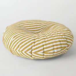 Gold Glitter Stripes Floor Pillow