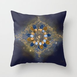 Treble Cosmos Throw Pillow