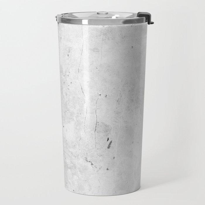 White Light Gray Concrete Travel Mug