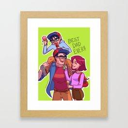 Best Super-Dad Ever Framed Art Print