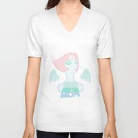 steven universe V-neck T-shirts featuring Bird Mom - Steven Universe by Glowy