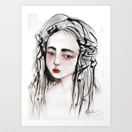 China Girl Art Print