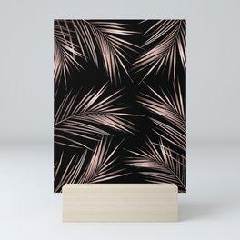 Rose Gold Palm Leaves 2 Mini Art Print