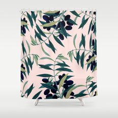 Olive Branch Pattern #society6 #decor #buyart Shower Curtain