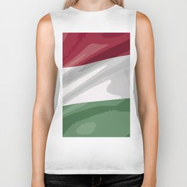 Hungary Fancy Flag Biker Tank