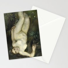 A Nymph by a Stream by Pierre-Auguste Renoir Stationery Cards