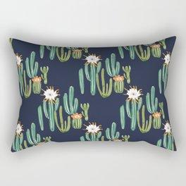 Dark Cactus Desert Rectangular Pillow