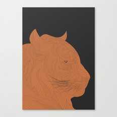 All lines lead to the...Inverted Tiger Canvas Print