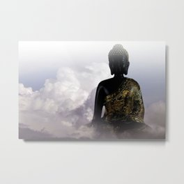 silence and meditation -5- Metal Print