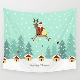 Hello Santa Claus Wall Tapestry
