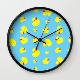 Rubber Duck Pattern Wall Clock