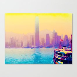 Hong Kong la vie en rose Canvas Print