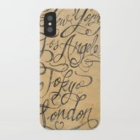 cities iPhone & iPod Cases featuring freehand cities by Vin Zzep