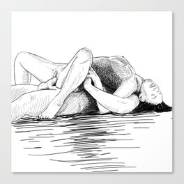 sex by the sea Canvas Print