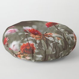 Rustic Floral (Color) Floor Pillow