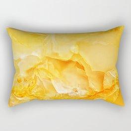 Yellow onyx marble Rectangular Pillow