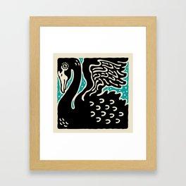 Black Swan 124 Framed Art Print