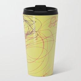 yellow swirl Travel Mug