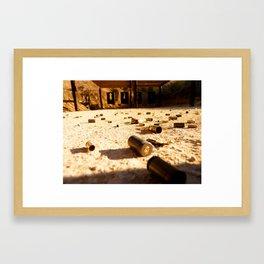 the shooting range.  Framed Art Print