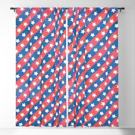 Starry Stripes // July 4th Collection Blackout Curtain