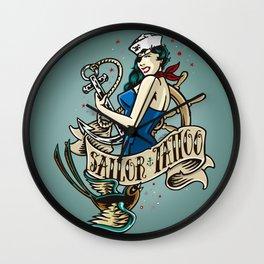 Sailor&Tattoo Wall Clock