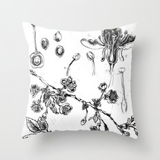 Botanical #CHERRIES Throw Pillow