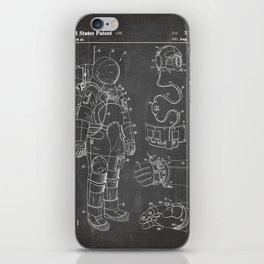 Nasa Apollo Spacesuite Patent - Nasa Astronaut Art - Black Chalkboard iPhone Skin