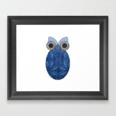 The Denim Owl Framed Art Print