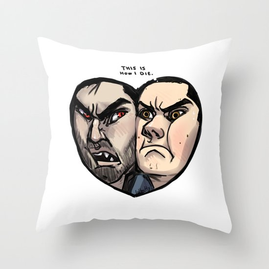 Sterek Throw Pillow