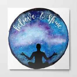 yoga universe Metal Print