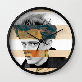 Egon Schiele's Self Portrait in a Striped Shirt & James D. Wall Clock